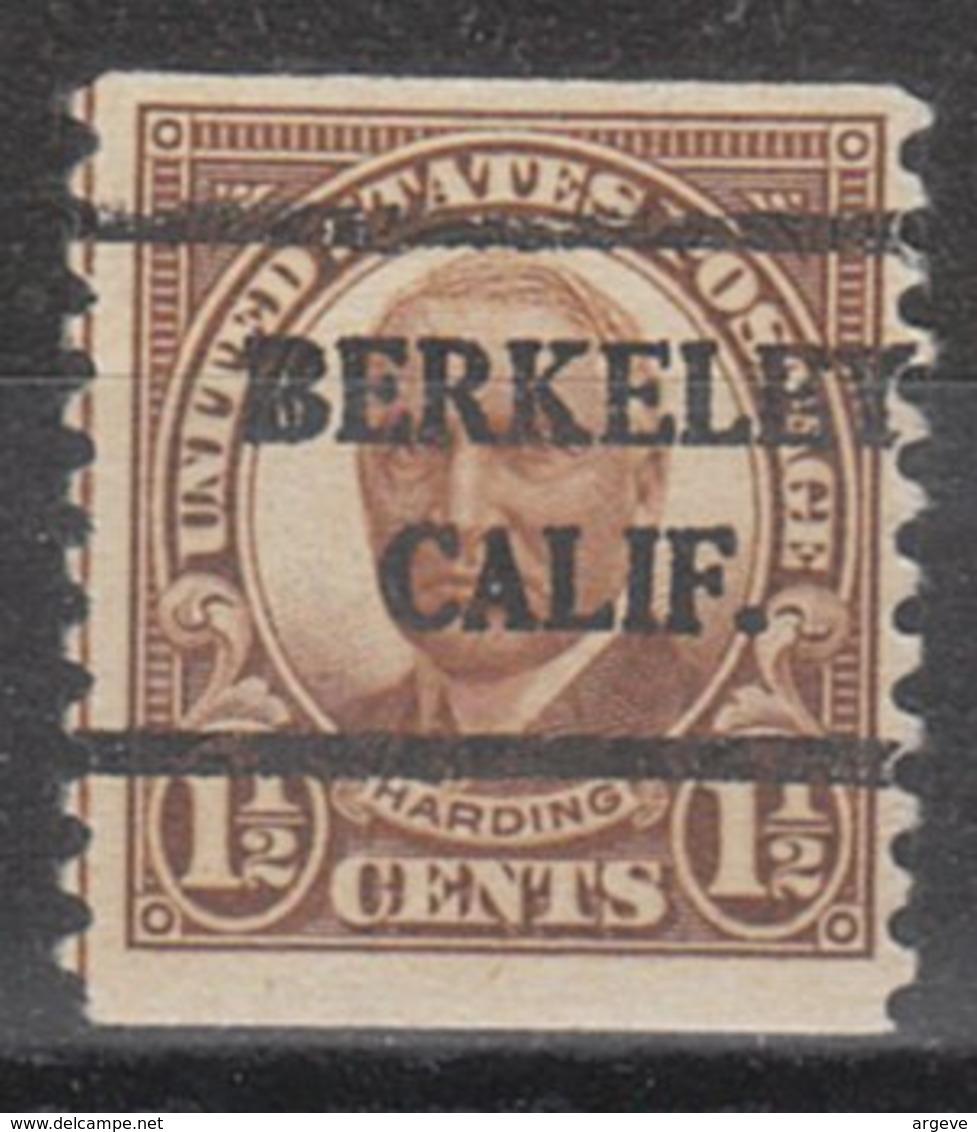 USA Precancel Vorausentwertung Preo, Bureau California, Berkeley 686-42 - Etats-Unis