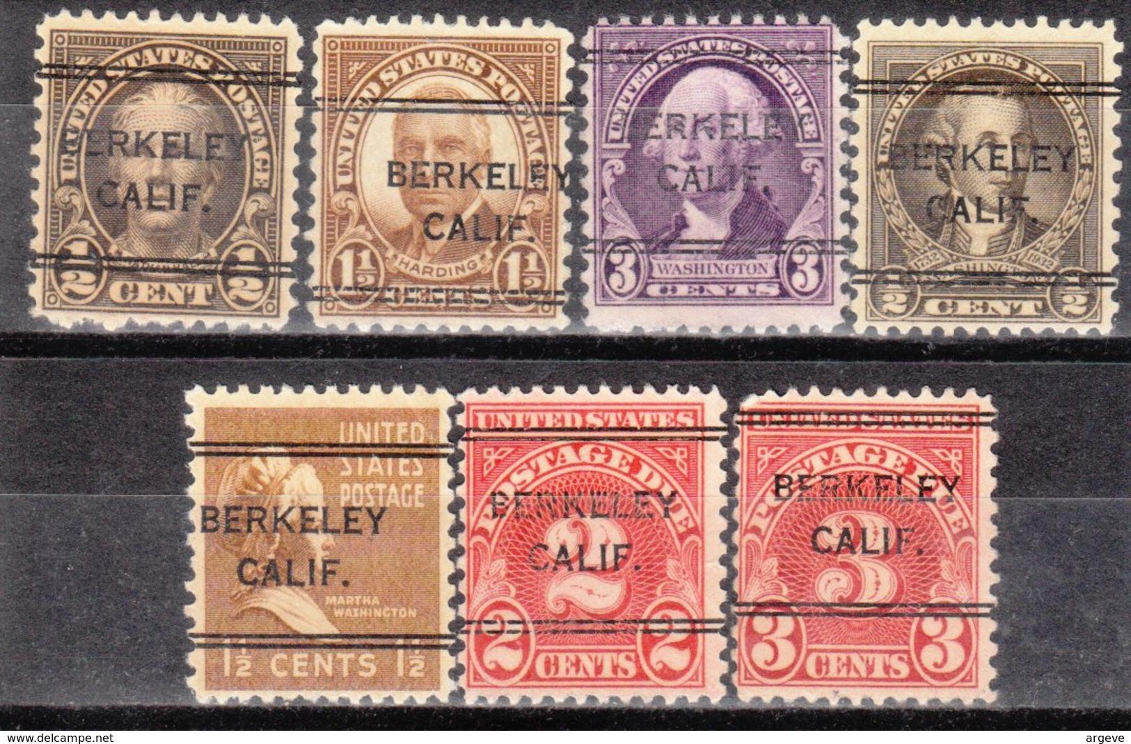 USA Precancel Vorausentwertung Preo, Locals California, Berkeley 243, 7 Diff. Perf. 11x10 1/2 - Etats-Unis