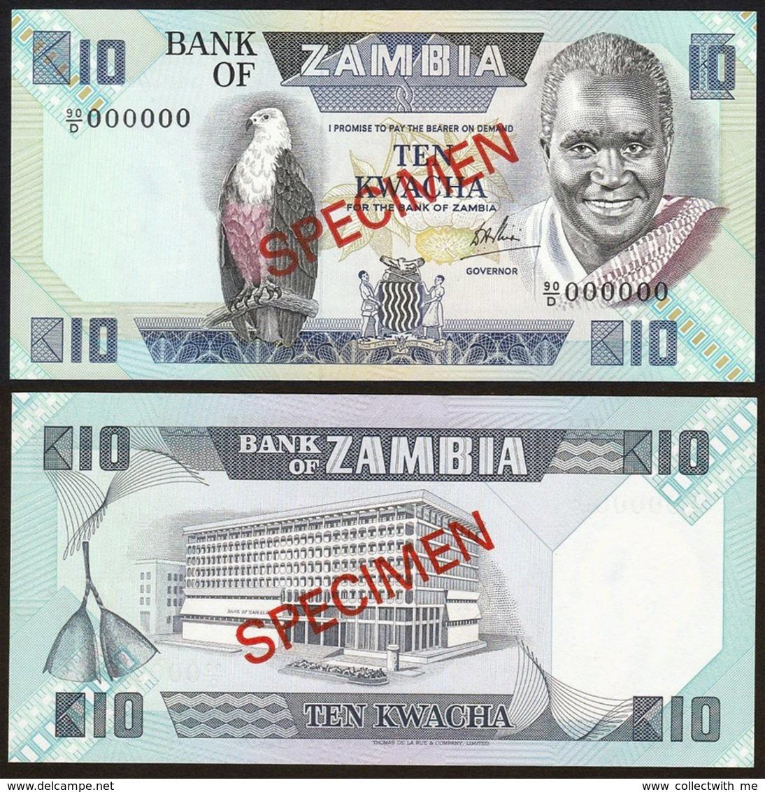 Zambia 10 Kwacha 1980-1988 Specimen UNC - Zambie