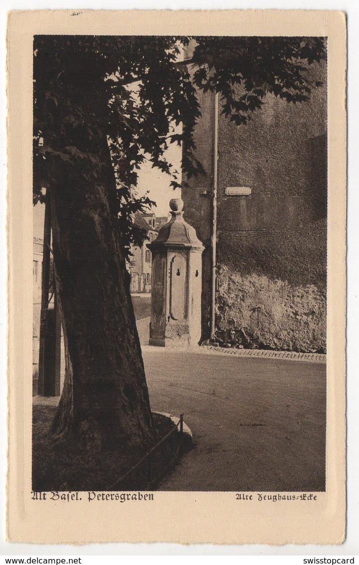 Alt-BASEL Petersgraben Zeughaus-Ecke Einmalige Ausgabe In Kupferdruck - BS Bâle-Ville