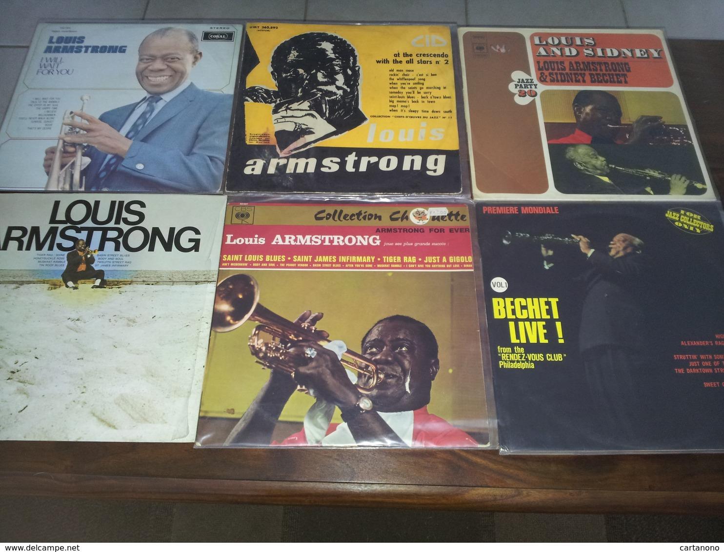 LOUIS AMSTRONG SIDNEY BECHET - Ensemble De 6 Disques Vinyles 33T - Jazz