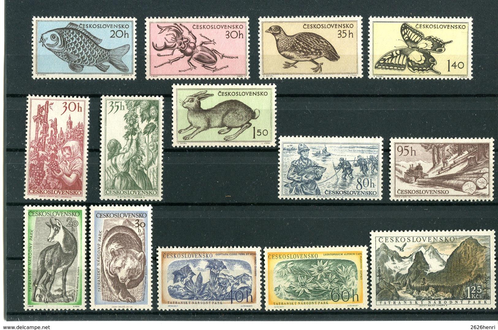 Tchécoslovaqui, 3 Séries 1955/1957 Neufs** (MNH) - Neufs
