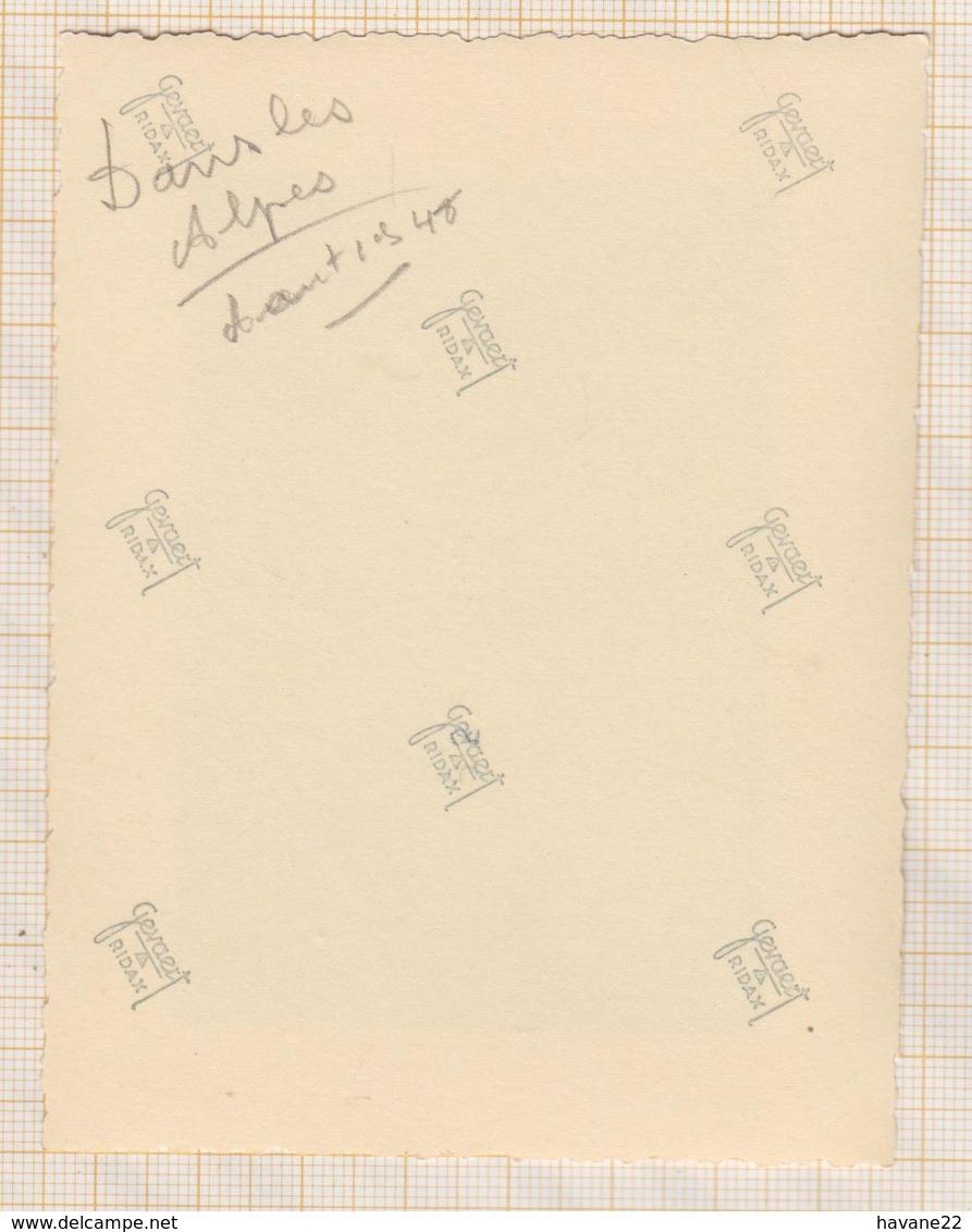 8AK4156 PHOTO AMATEUR 8 X 10.5 CM DANS LES ALPES 1948  2 SCANS - Lieux