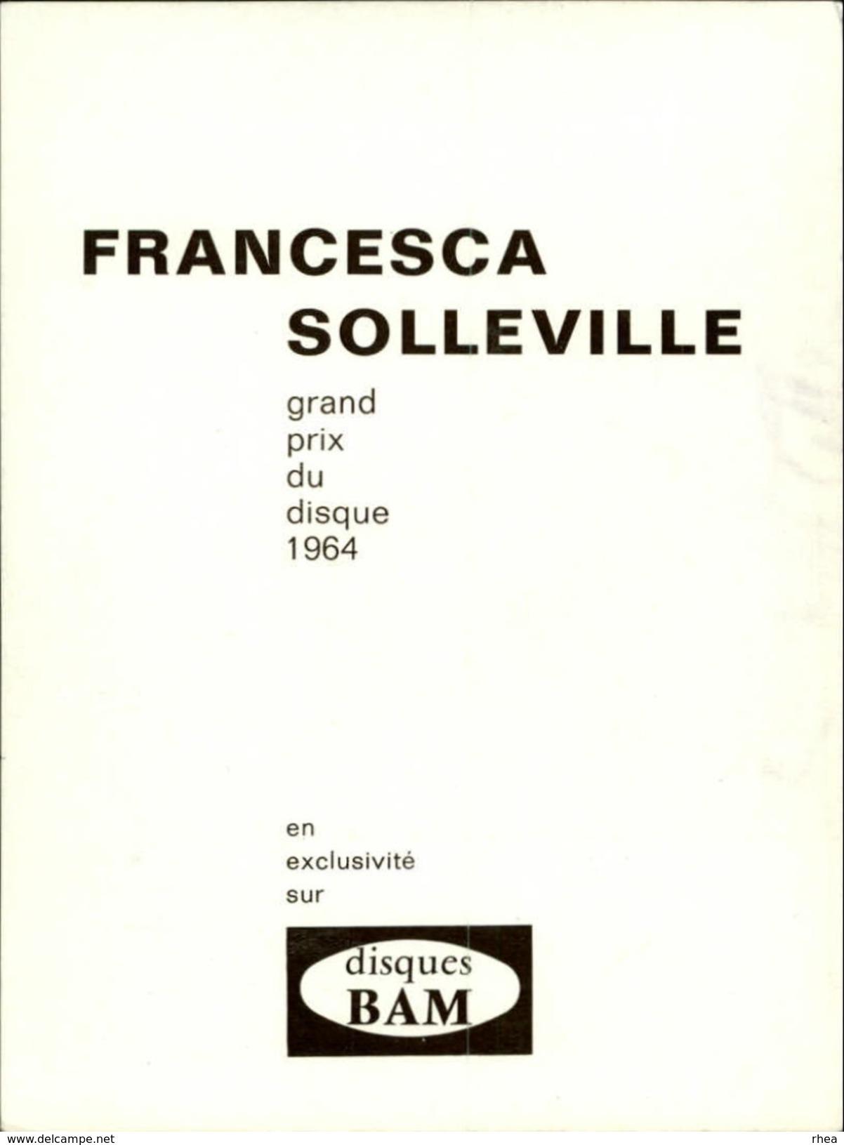 CELEBRITES - FRANCESCA SOLLEVILLE - - Vieux Papiers