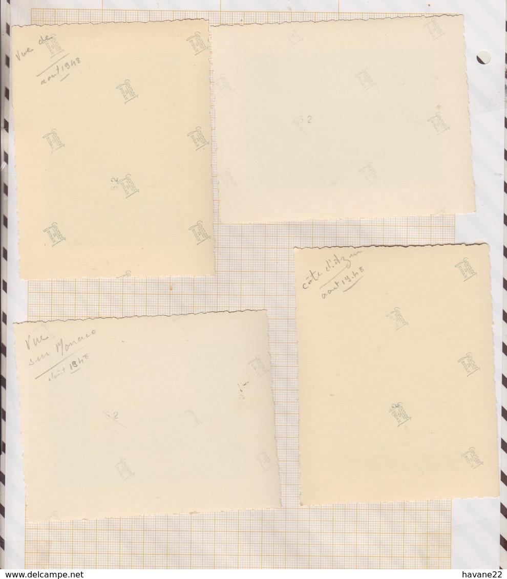 8AK4162 PHOTO AMATEUR 8 X 10.5 CM Lot De 4 Photos COTE AZUR 1948 2 SCANS - Lieux