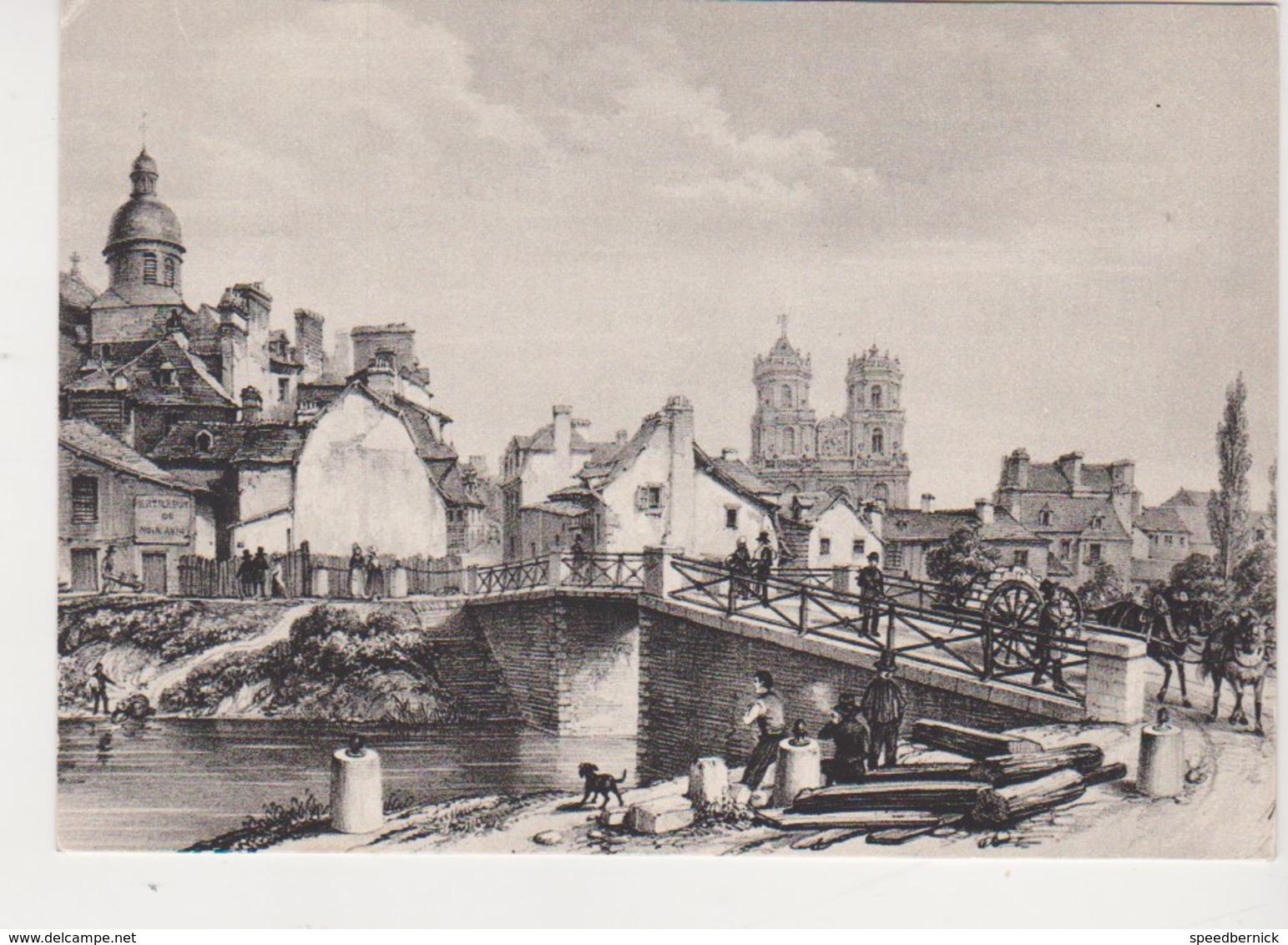 26584 CPSM RENNES Lithographie  Benoist 1858 -vilaine Devant Cathedrale Pont Bagot Bas Des Lices -Jos Le Doare P 289 - Rennes