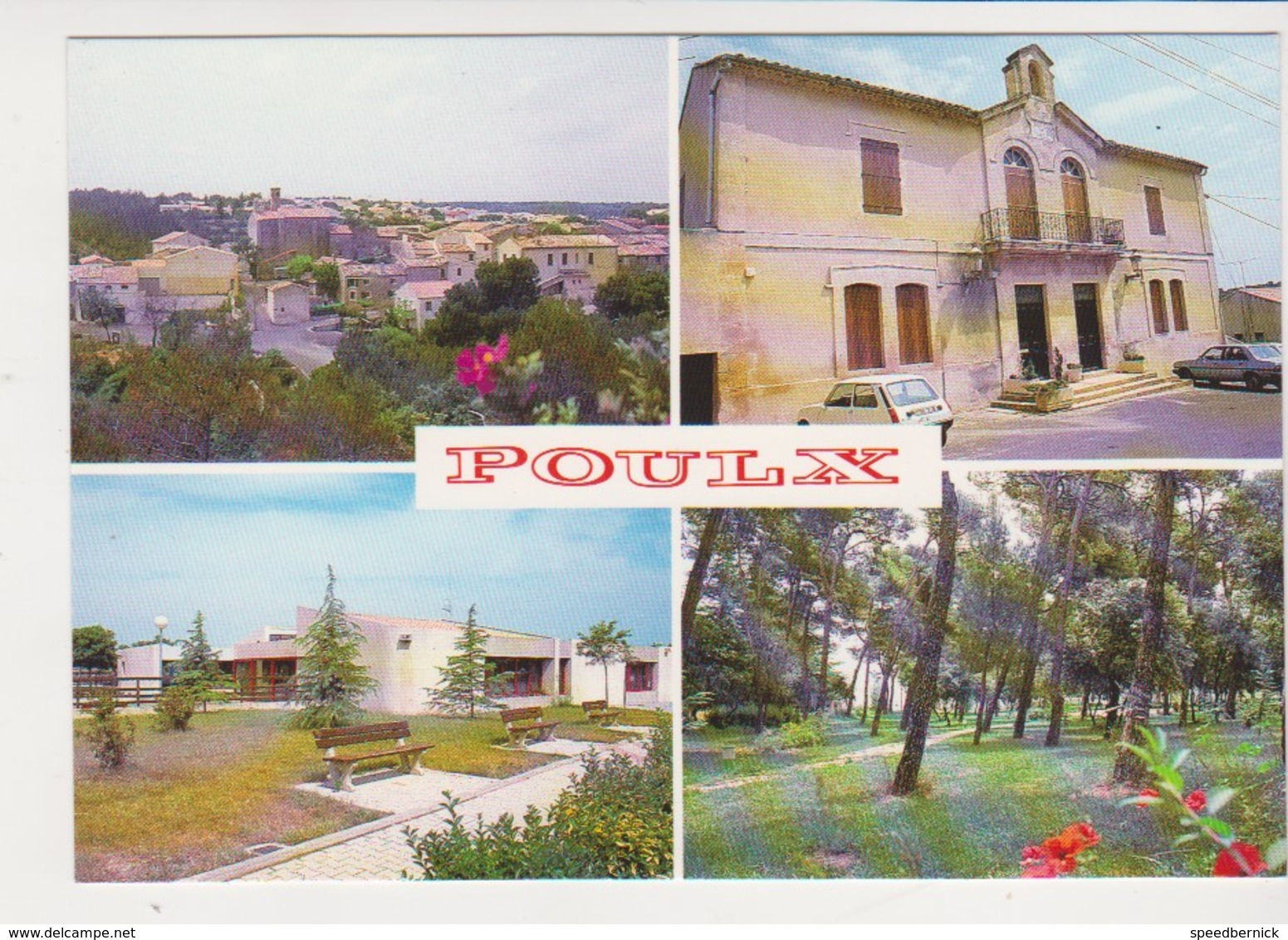 26594 POULX VUE GENERALE MAIRIE ECOLE PINEDE VUES MULTIPLES GARD  -Nlle Ed Provencales Photos A Nappi - - France