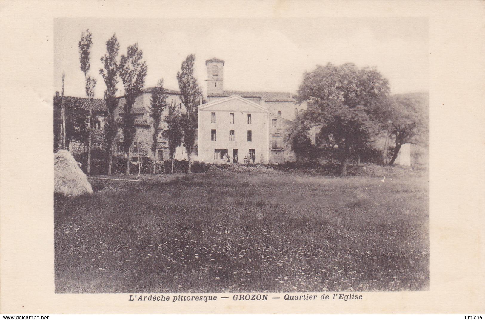 (41)    GROZON - Quartier De L' Eglise - France