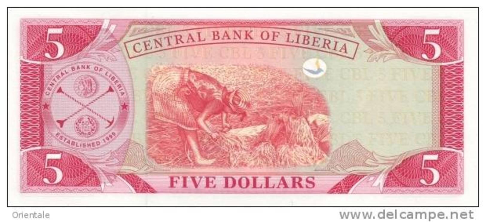LIBERIA P. 26c 5 D 2006 UNC - Liberia