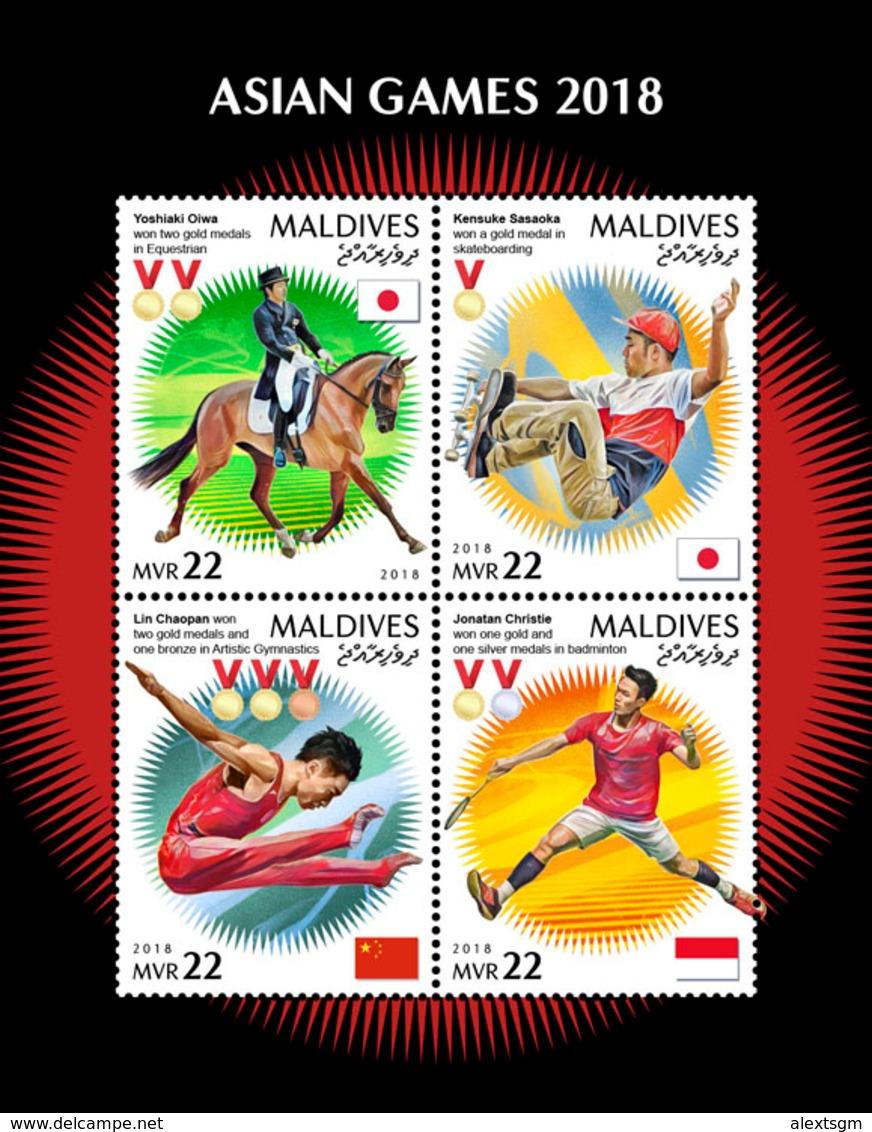 MALDIVES 2018 - Skateboard, Asian Games. Official Issue - Skateboard