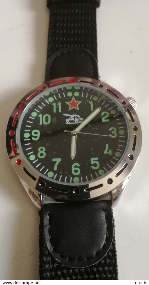 Reloj Tanquista Ejército URSS CCCP. Rusia Comunista. Guerra De Afghanistán. Réplica - Other
