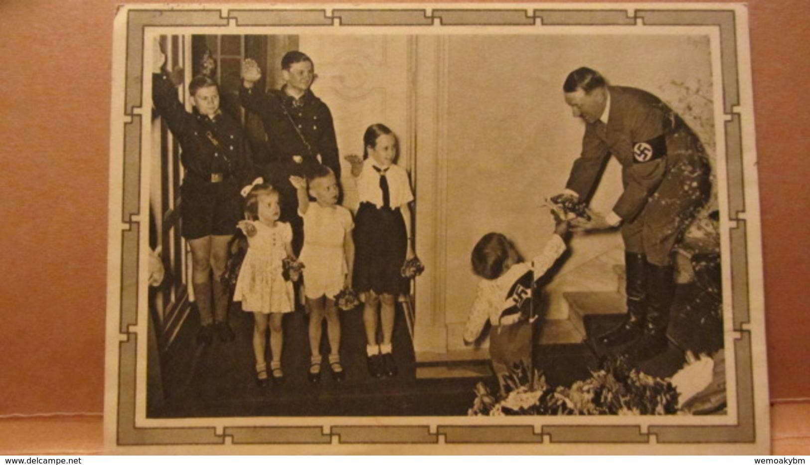 DR: GA P 278/04 Mit 6+19 Pfg Adolf Hitler Mit  Kindergruppe Zum Geburtstag Vom 29.6.42 Nach Radebeul - Deutschland