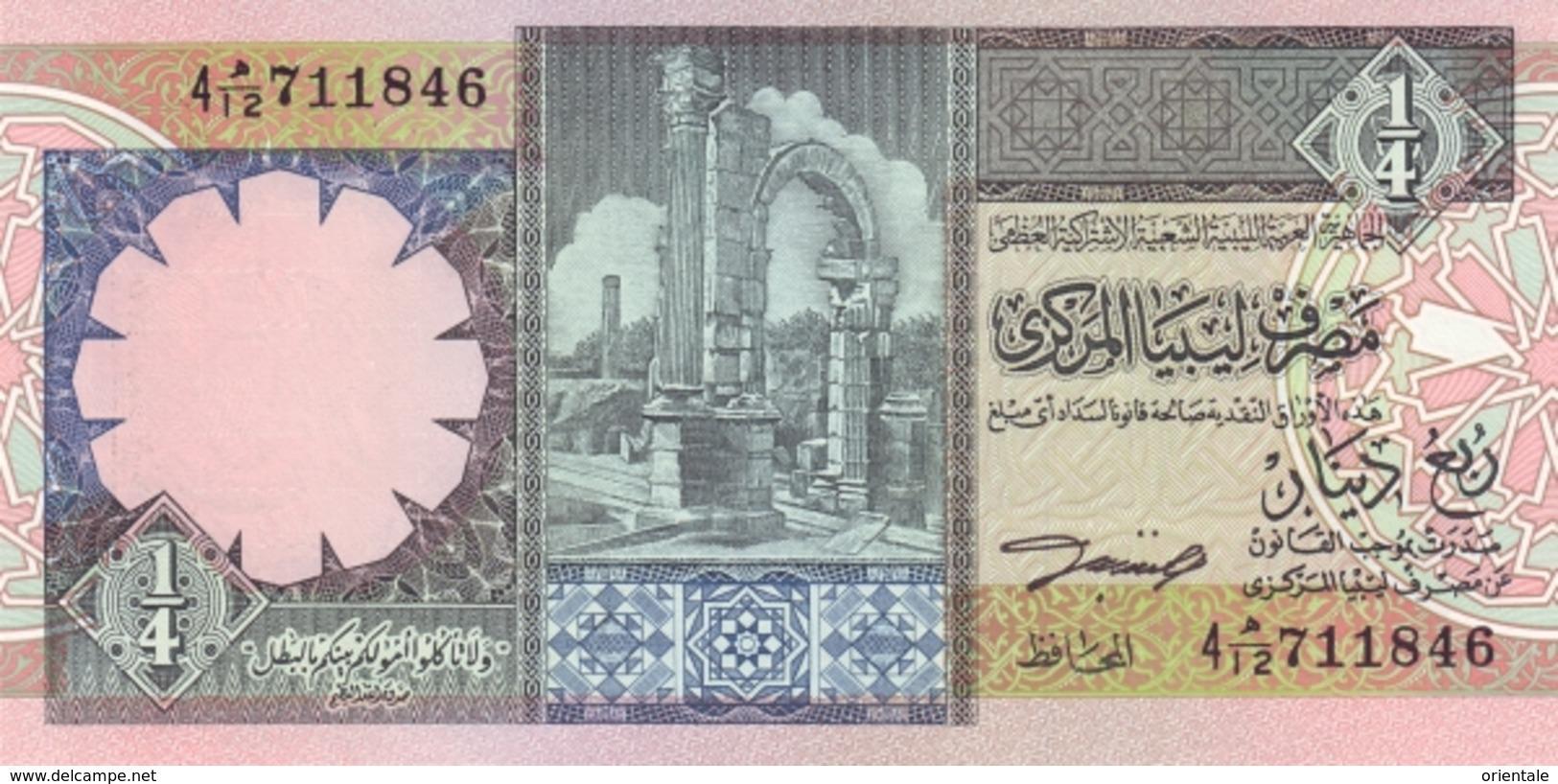 LIBYA P. 57b 1/4 D 1991  UNC - Libye