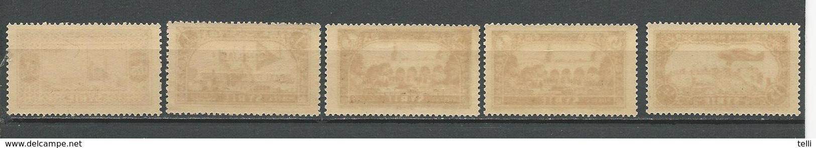 ALEXANDRETTE Scott 13-17 Yvert 13-17 (5) ** Cote 375,00 $ 1938 RARE Dans Cet état VOIR SCAN - Alexandrette (1938)