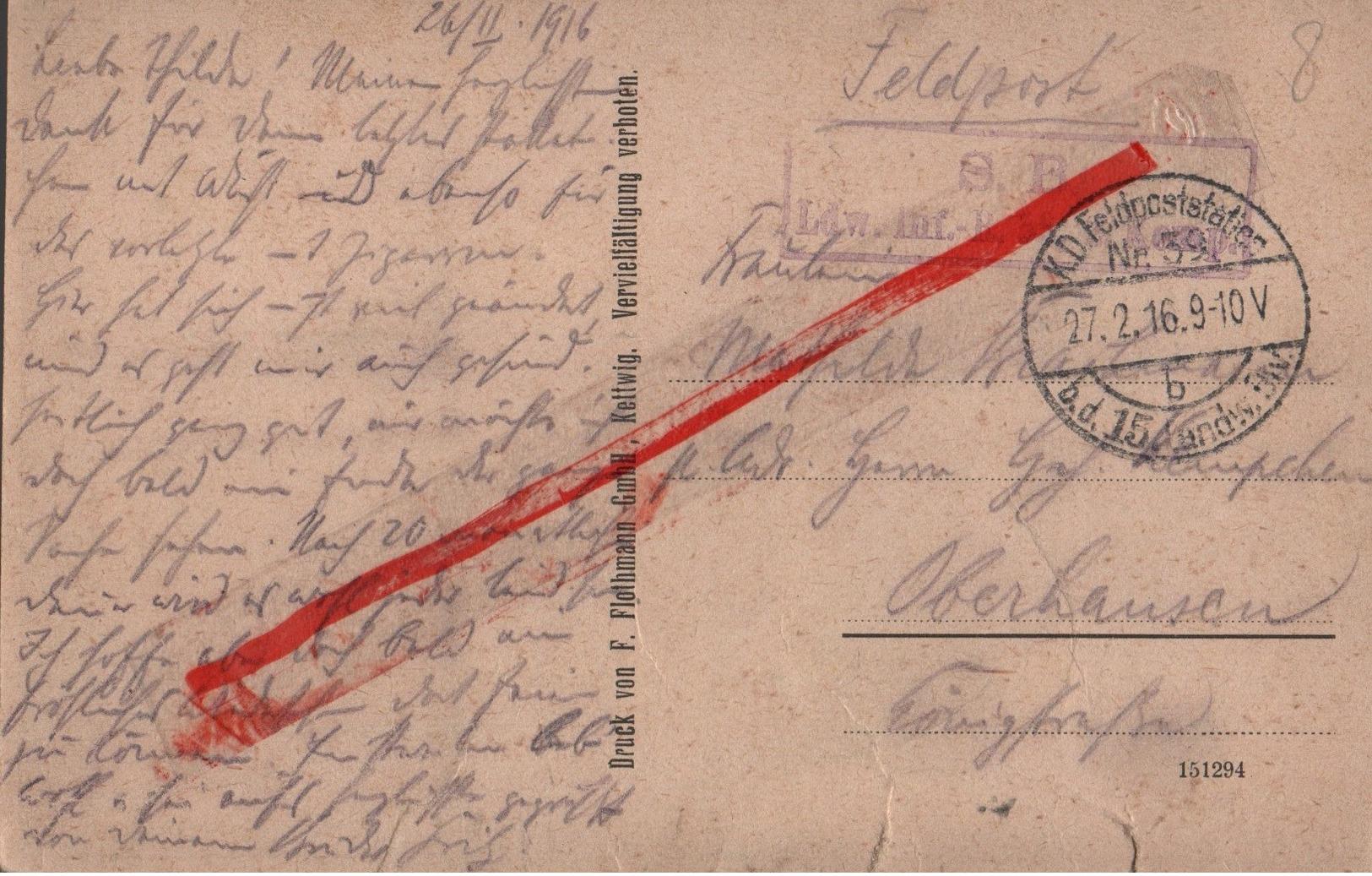 (Oise) Noyon - 60 - Militaria : Carte Allemande, 31 Mai 1915, Rue D'Amiens, Rue Calvin (circulé 1916) Feldpost - Noyon