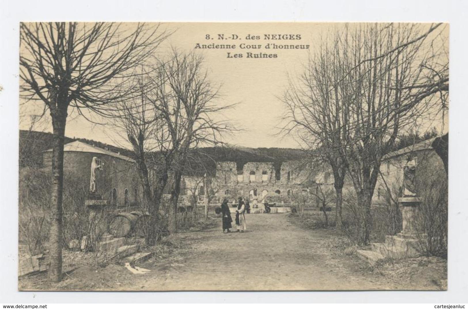 07 SAINT-LAURENT-LES-BAINS LA TRAPPE ABBAYE DE NOTRE-DAME DES NEIGES ANCIENNE COUR D HONNEUR LES RUINES - France