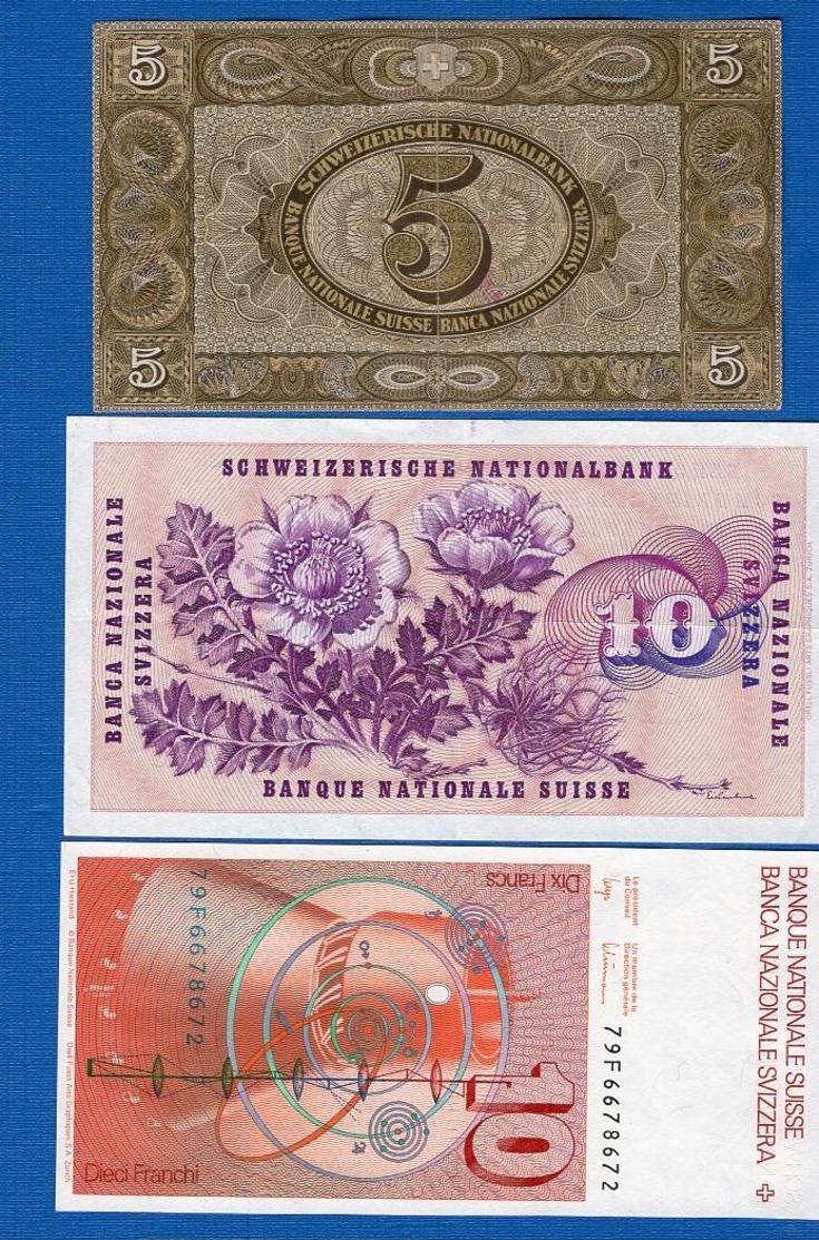 Suisse  3  Billets - Suisse