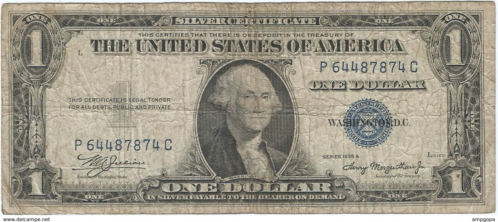 Estados Unidos - United States 1 Dollar 1935A Pick 416a Ref 1 - Large Size - Tamaños Grandes (...-1928)