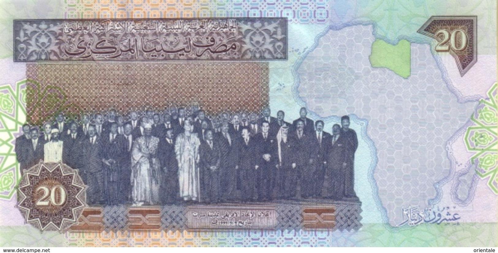 LIBYA P. 67a 20 D 2002 UNC - Libye