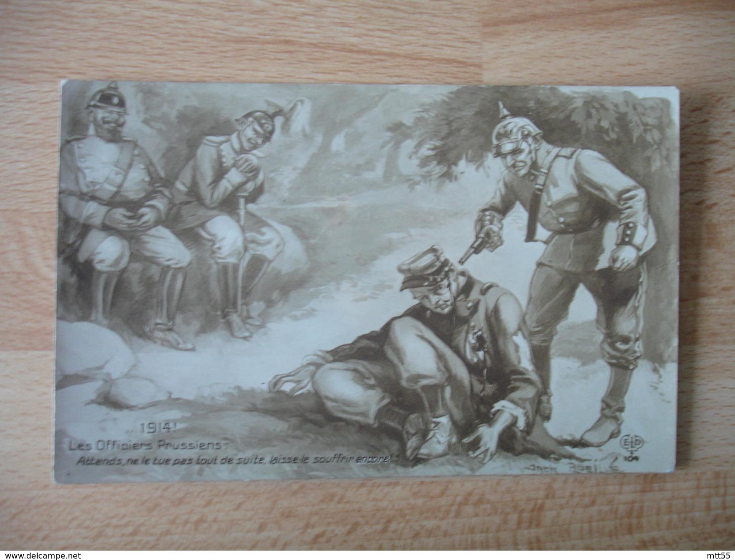 Guerre 14.18 Carte Patriotique Anti Allemand  Laisse Souffrir Francais Blesse - Guerre 1914-18