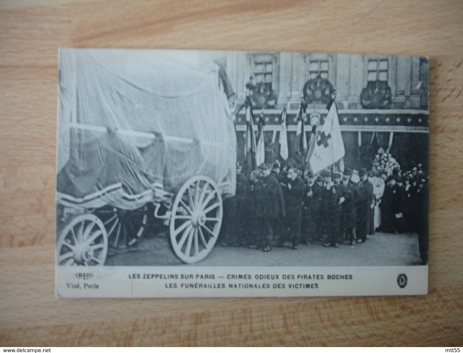 Guerre 14.18 Zeppelins Sur Paris Crimes Odieux Des Boches Funerailles Nationale - Guerre 1914-18