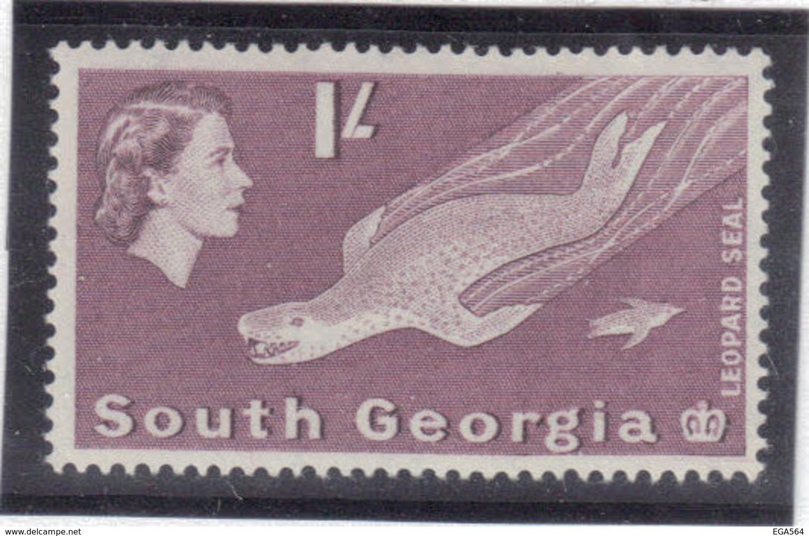 M10 - SOUTH GEORGIA - Yvert 18 ** MNH De 1963 - FAUNE - LEOPARD DES MERS - - Géorgie Du Sud
