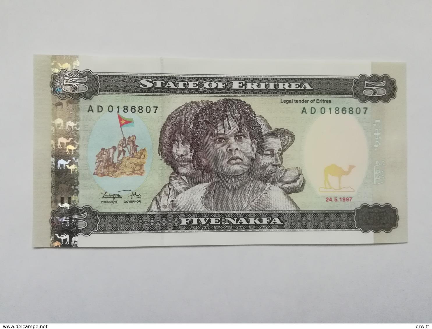 ERITREA 5 NAKFA 1997 - Erythrée