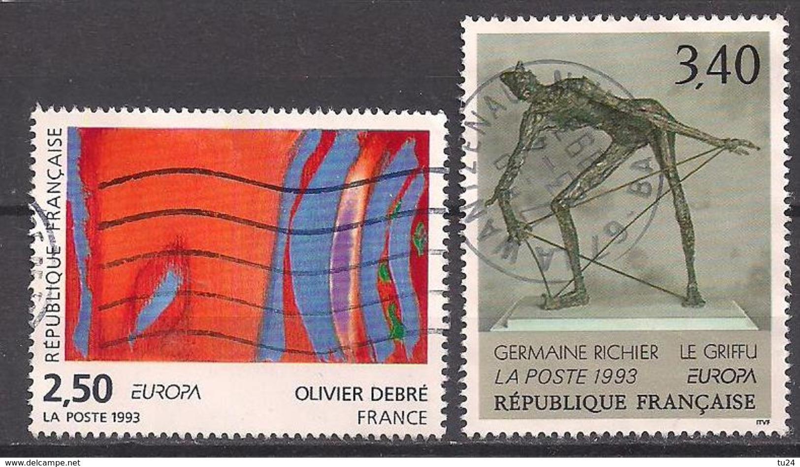 Frankreich  (1993)  Mi.Nr.  2943 + 2944  Gest. / Used  (9ae30)  EUROPA - Gebraucht