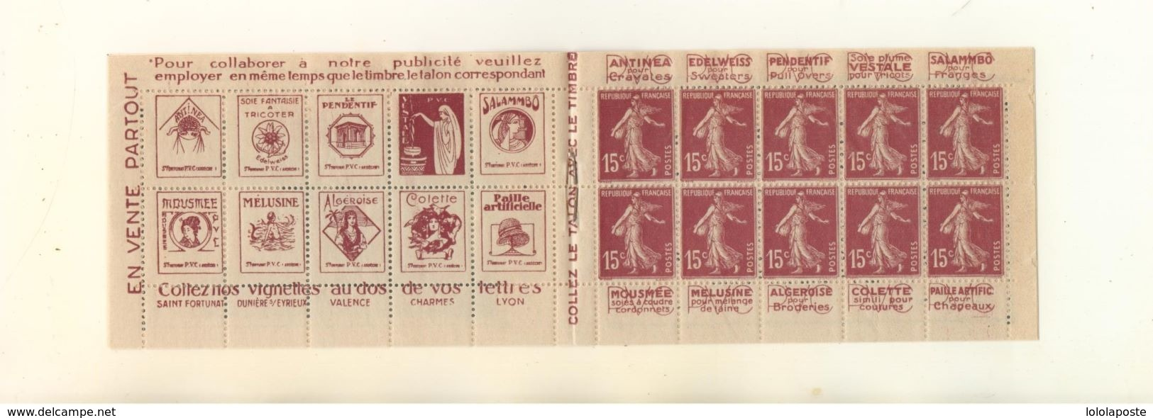 FRANCE - Carnet Pub N°189 C1 - Fraicheur Postale, Complet Avec Ses Feuilles Cristal De Protection - Gomme Altérée - Carnets