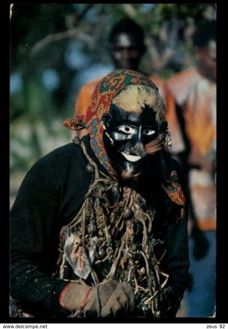 C325 TANZANIA - ETHNICS FOLKLORE - THE WITCHCRAFT DANCER CIRC. 1972 - Tanzania