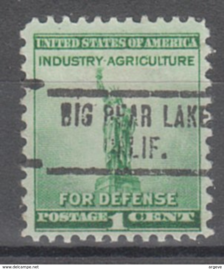 USA Precancel Vorausentwertung Preo, Locals California, Big Dear Lake 734 - Etats-Unis