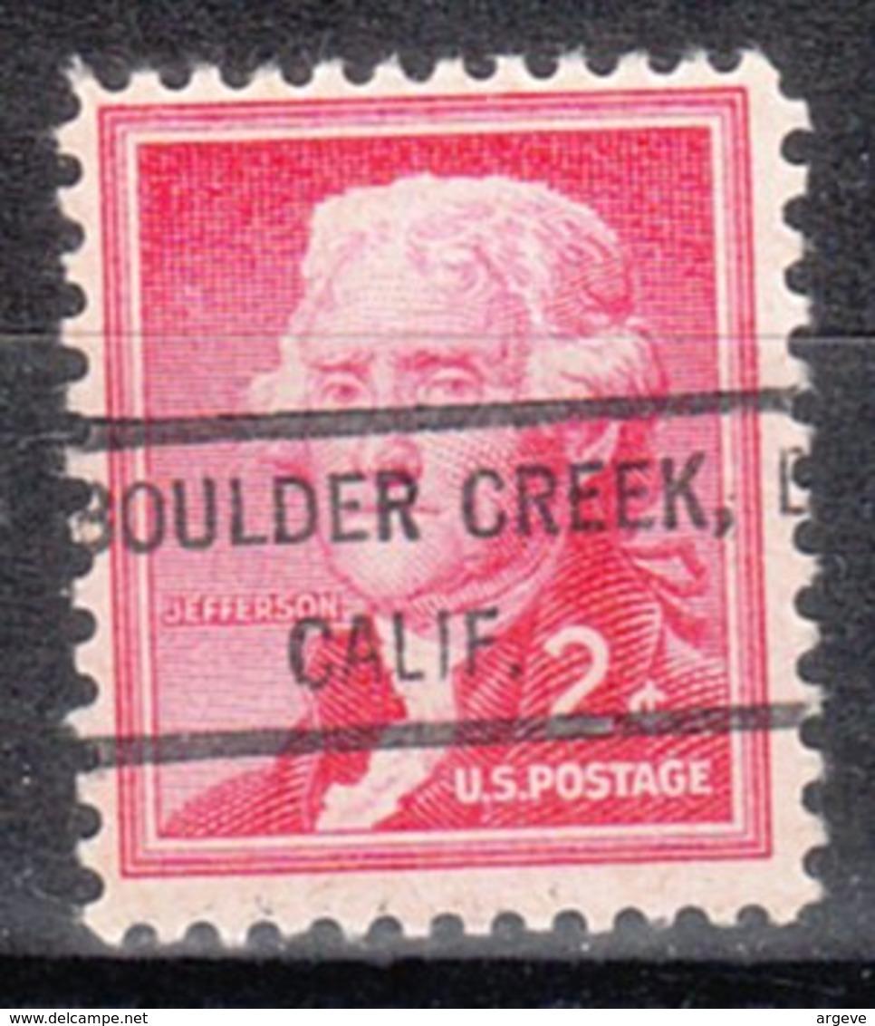 USA Precancel Vorausentwertung Preo, Locals California, Boulder Creek 807 - Etats-Unis