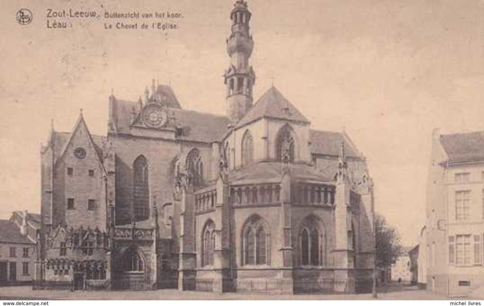 Zout-Leeuw - Léau - Buitenzicht Van Het Koor - Le Chevet De L'Eglise - Circulé En 1924 - TBE - Zoutleeuw - Zoutleeuw