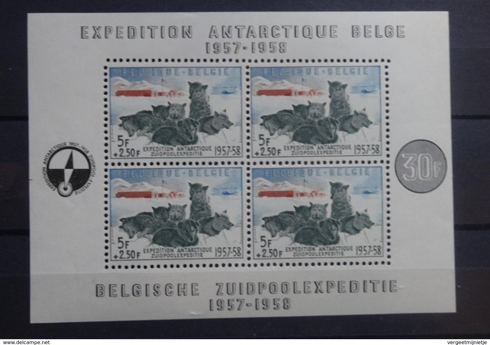 BELGIE   1957    Blok  31   Zuidpoolexpeditie       Postfris **    CW  180,00 - Blocs 1924-1960