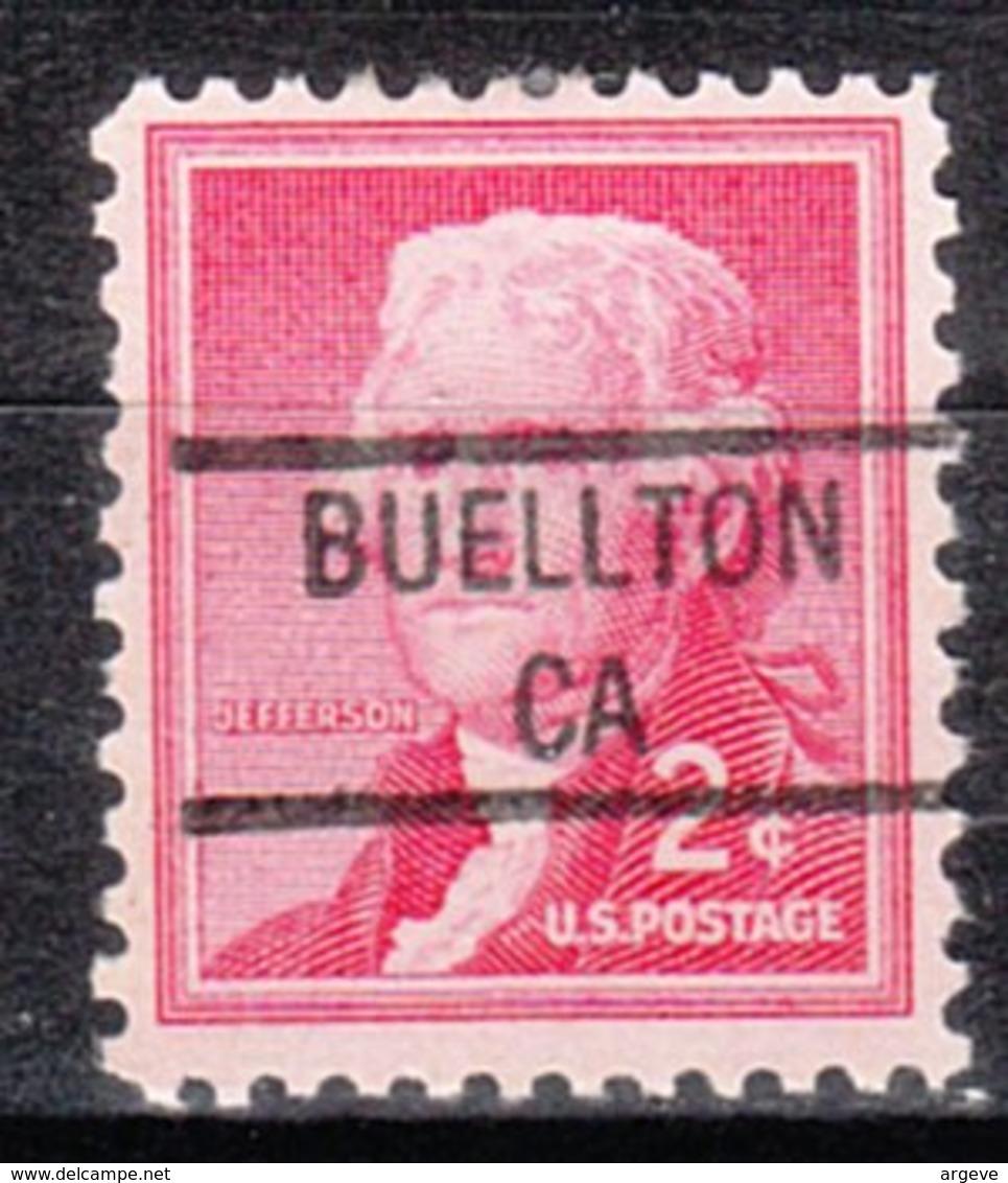 USA Precancel Vorausentwertung Preo, Locals California, Buellton 841 - Etats-Unis