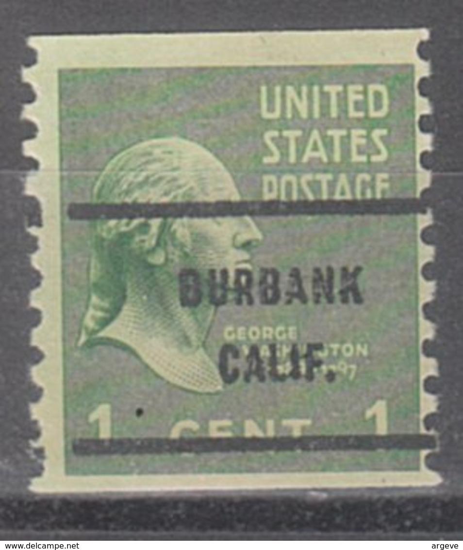 USA Precancel Vorausentwertung Preo, Bureau California, Burbank 839-61 - Etats-Unis