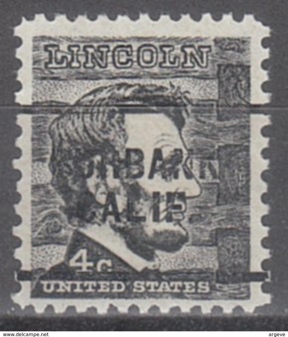 USA Precancel Vorausentwertung Preo, Locals California, Burbank 256 - Etats-Unis