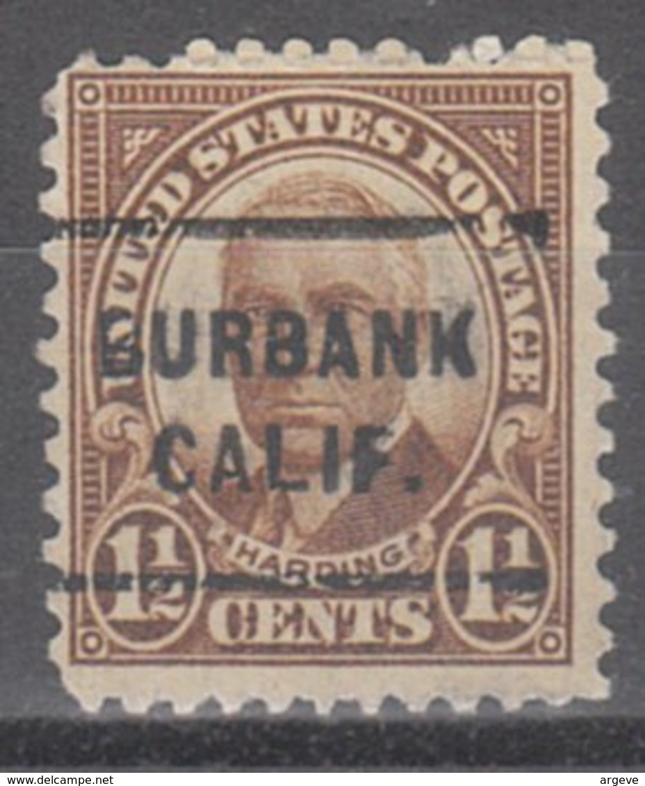 USA Precancel Vorausentwertung Preo, Locals California, Burbank 684-712 - Etats-Unis