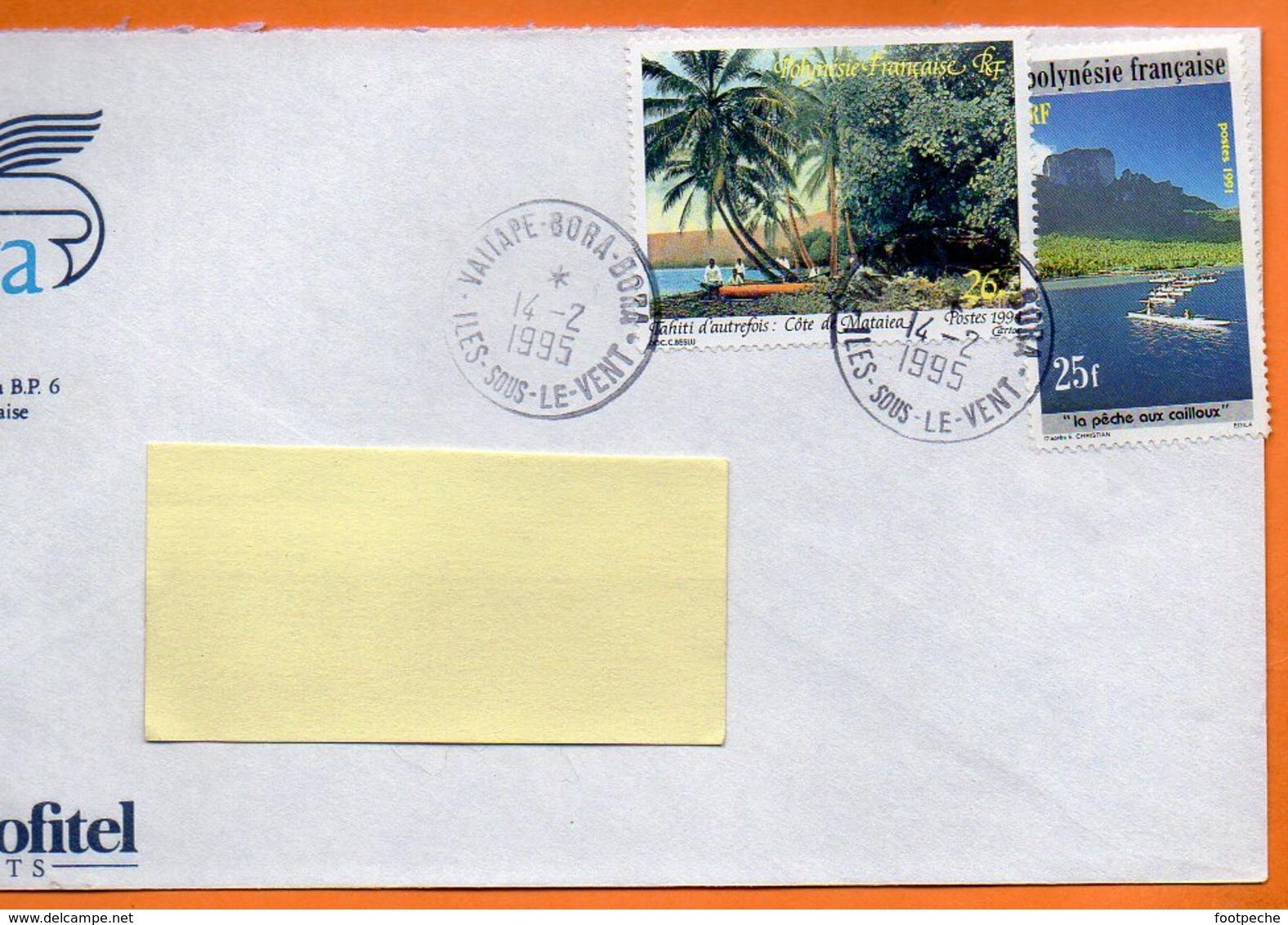 POLYNESIE FRANCAISE LA PECHE AUX CAILLOUX  1995 Lettre Entière 110x220 N° O0167 - Fische