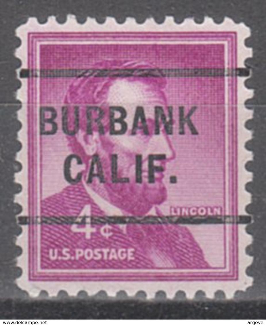 USA Precancel Vorausentwertung Preo, Locals California, Burbank 255 - Etats-Unis