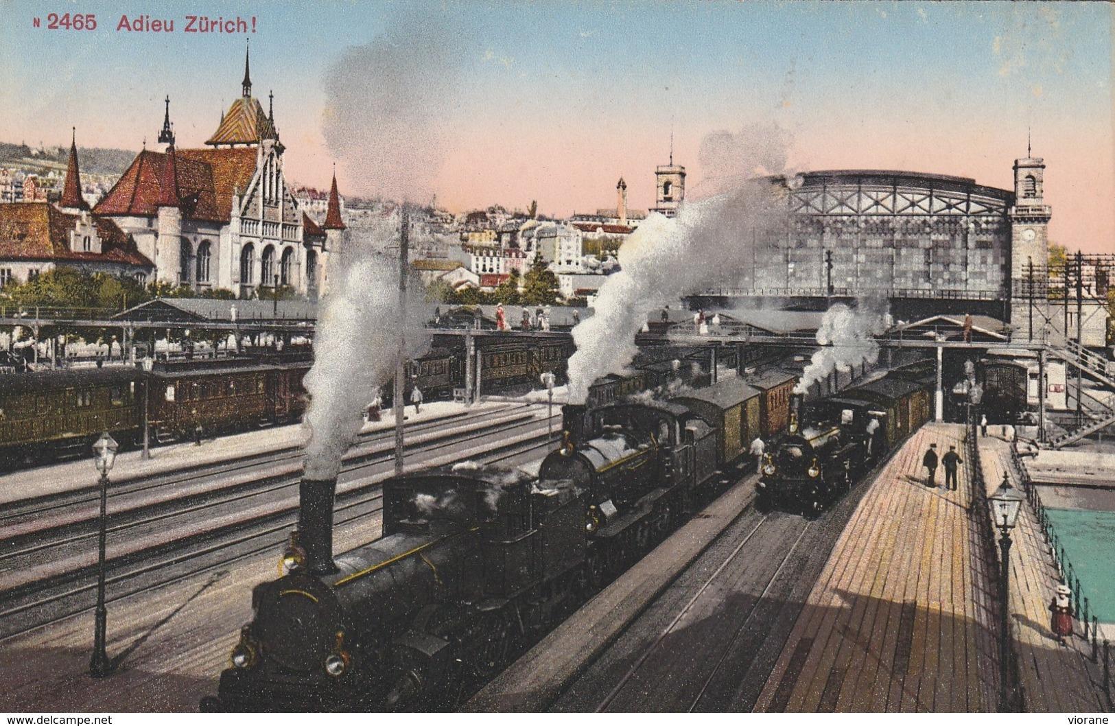 Adieu Zurich (Gare - Trains) - ZH Zurich