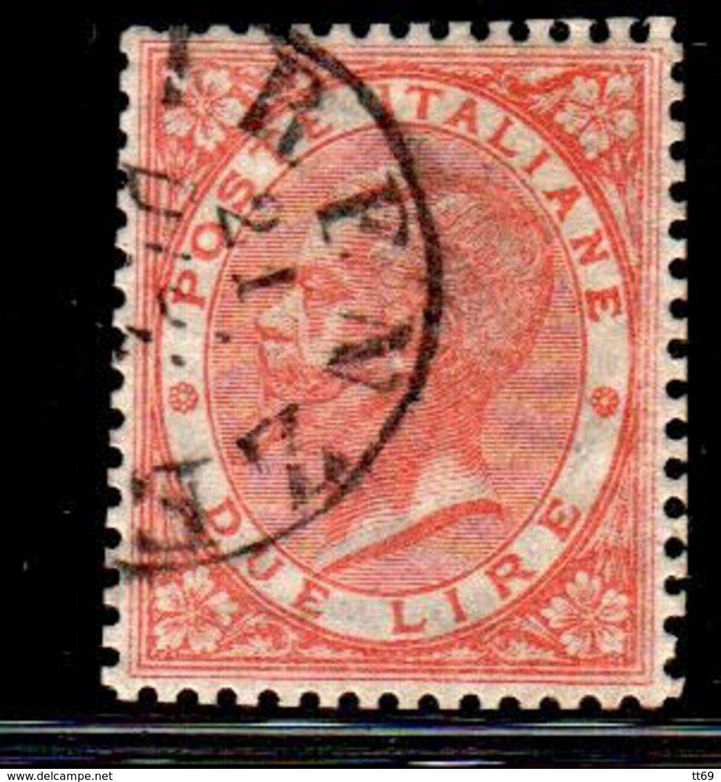 2 Lire Effigie Di Vittorio Emanuele II - Usati