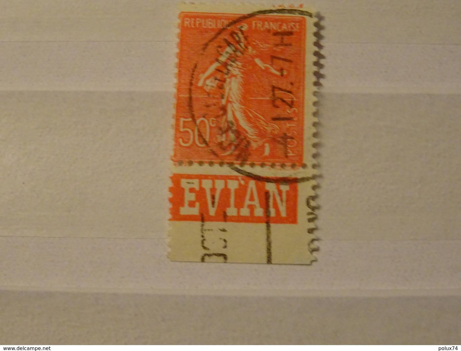 FRANCE  Timbres  Semeuse Avec Publicitée 1924- EVIAN - Carnets
