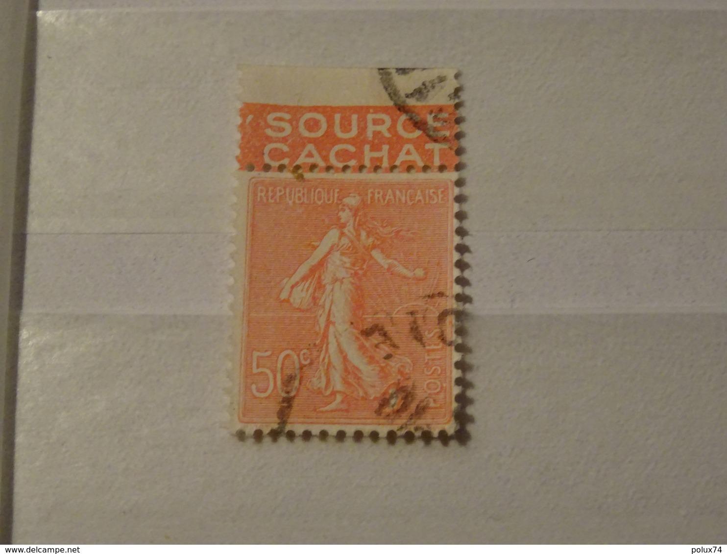 FRANCE  Timbres  Semeuse Avec Publicitée 1924- EVIAN Source Cachat - Carnets