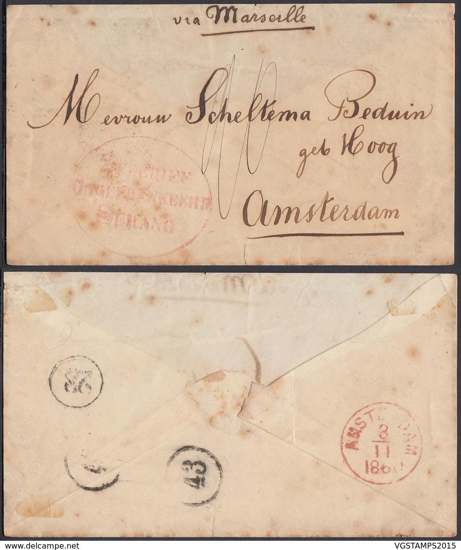 LETTRE DE SERANG 1860 VERS AMSTERDAM (AIX3771) DC-1394 - Indes Néerlandaises