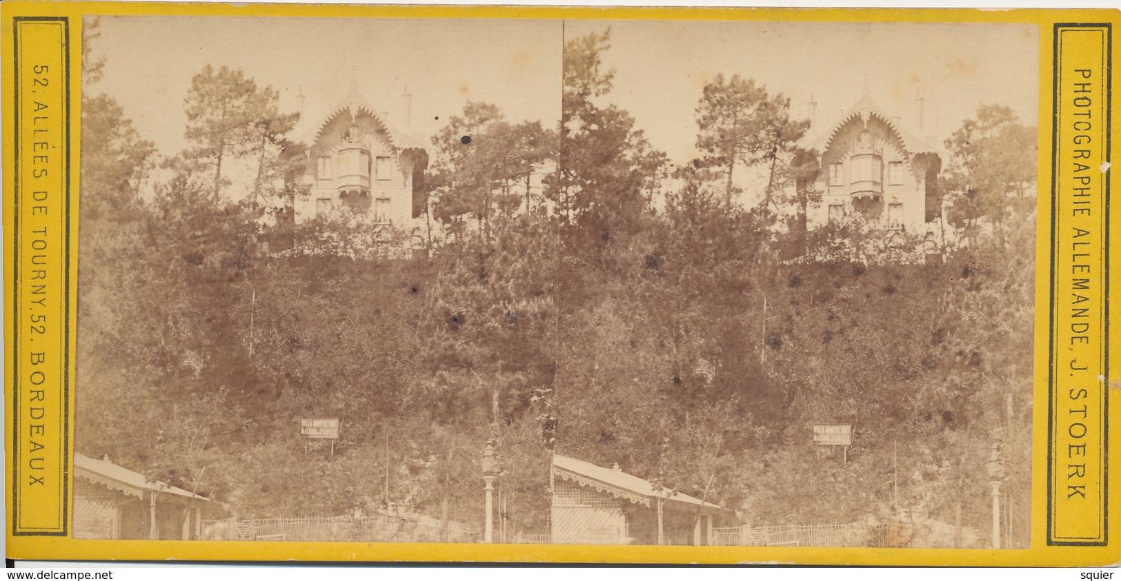 Bordeaux. Arcachon, Villa Montretout, J.Stoerk, Maison Famille - Photos Stéréoscopiques