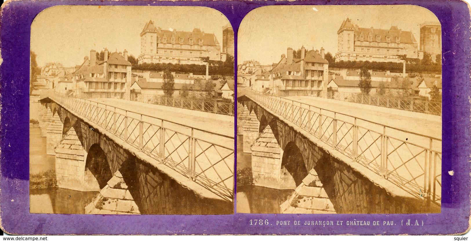 Pau, Pont De Jurancon, Chateau, J.Andrieu - Photos Stéréoscopiques
