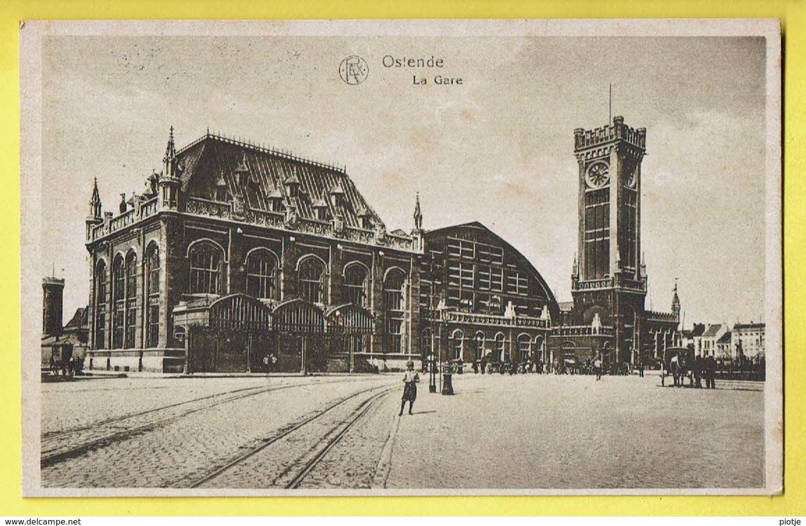 * Oostende - Ostende (Kust - Littoral) * (REX, Sér 116, Nr 11) La Gare, Railway Station, Bahnhof, Animée, Tramway, Old - Oostende