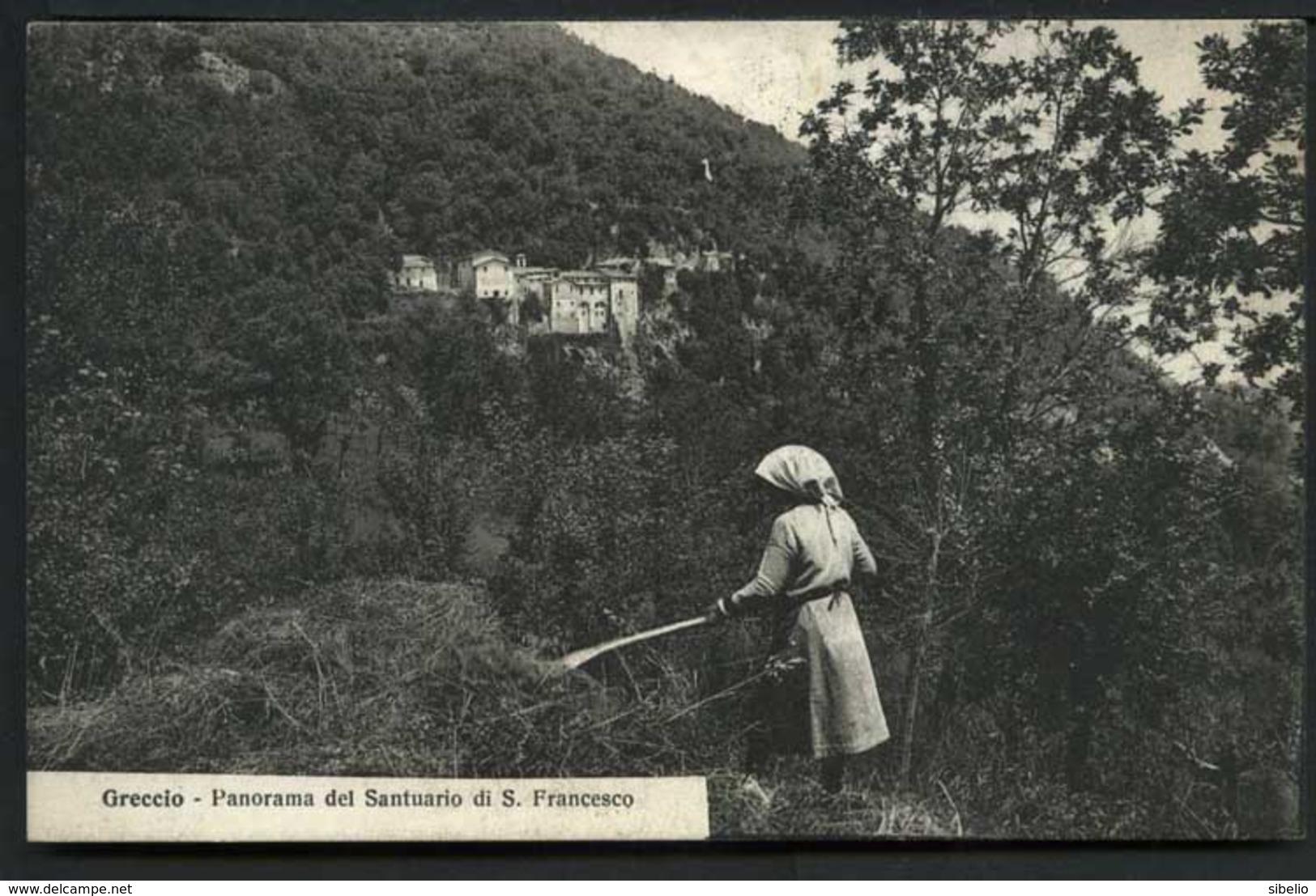 Greccio Panorama Del Santuario Di S. Francesco - Non Viaggiata - Rif. 03248 - Italia
