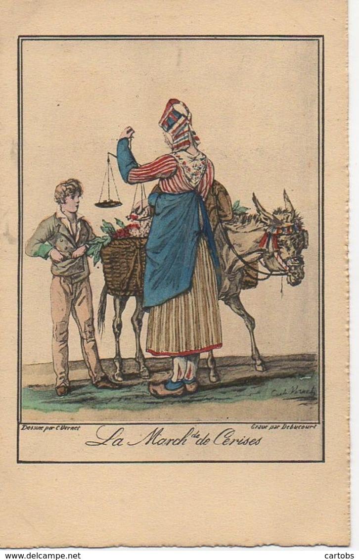 75 PARIS  Petits Métiers De Paris En 1820  : Le Marchand De Cerises - Petits Métiers à Paris